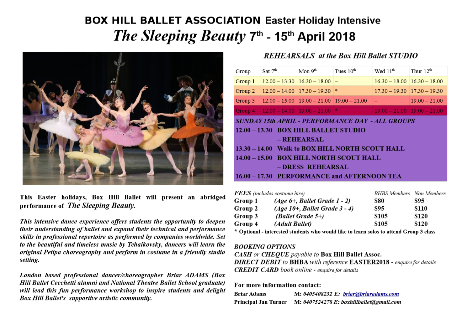 Box Hill Balllet Easter Holiday Intensive | Box Hill Ballet